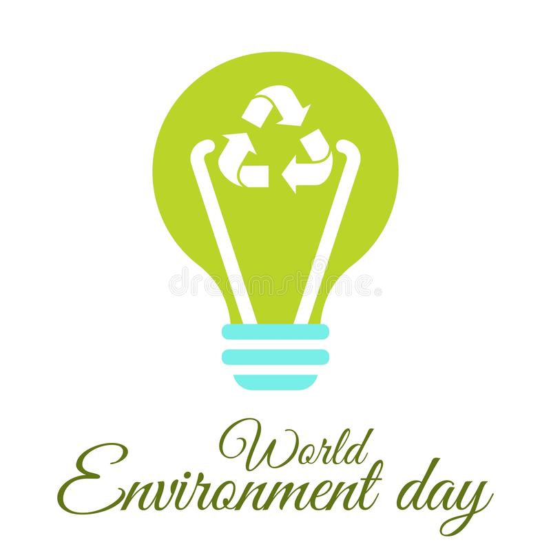 Download World Environment Day Lamp Stock Illustration. Illustration Of  Factory   92618341