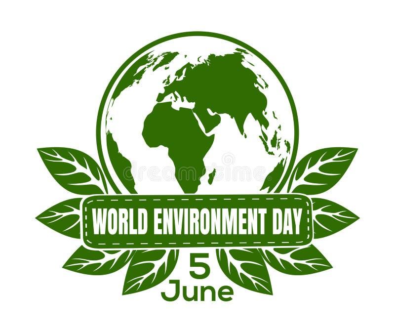World Environment Day logo design royalty free illustration