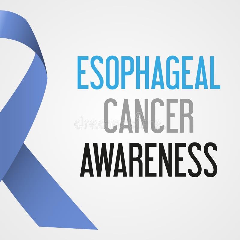 World esophageal cancer day awareness poster eps10 stock illustration