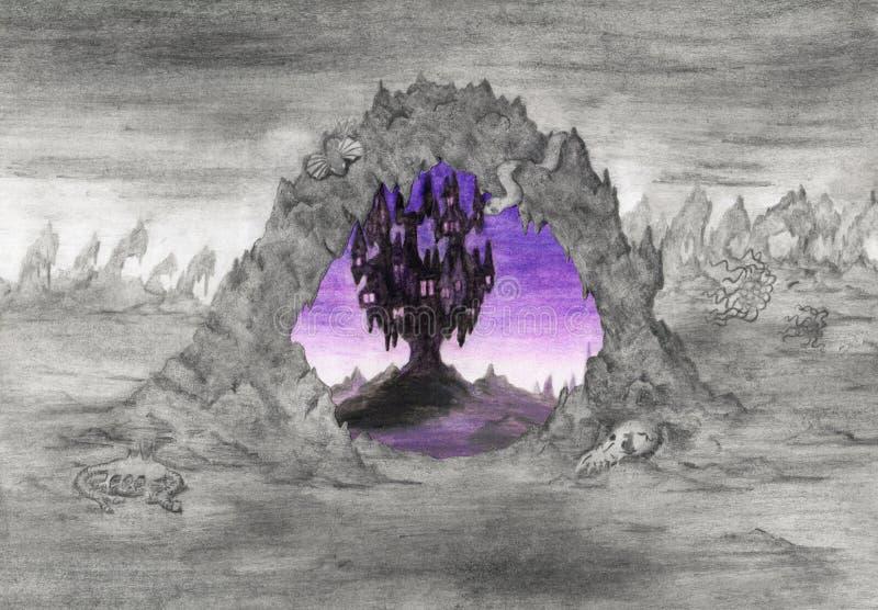 World extraño (1999) ilustración del vector