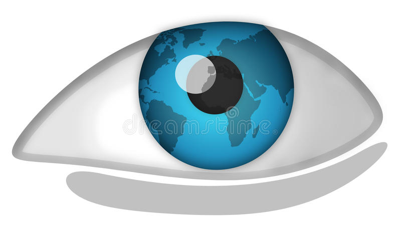 World eye vector illustration