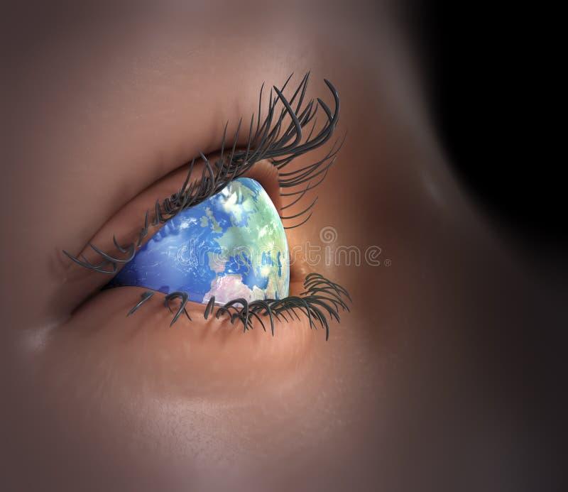 World eye royalty free illustration