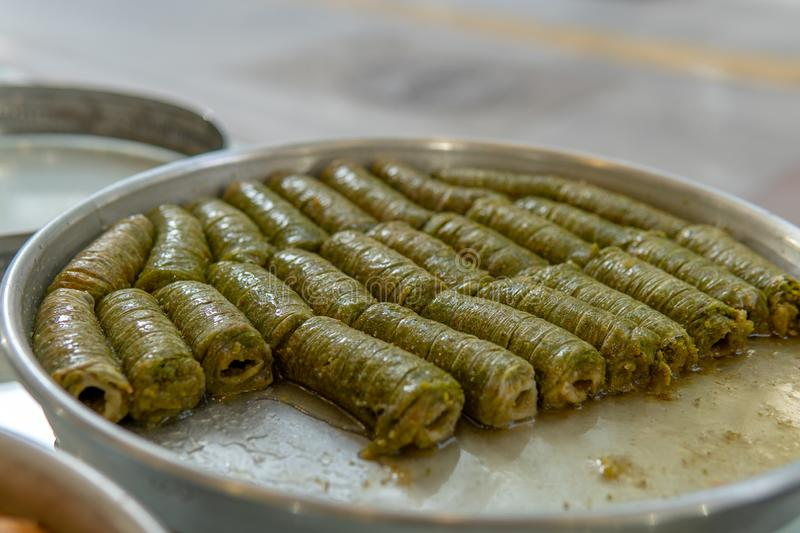 Baklava For Sale. in Gaziantep royalty free stock image