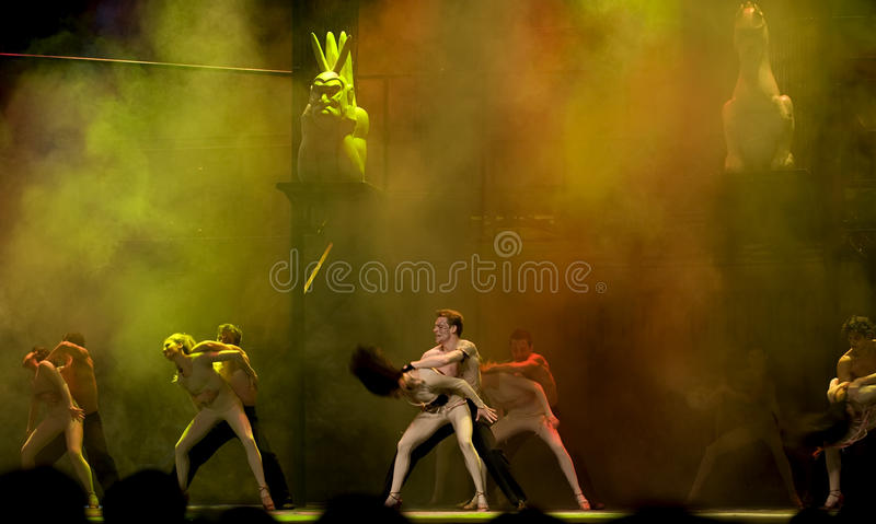 The World Famous Dance Drama : Notre Dame de Pari royalty free stock photography