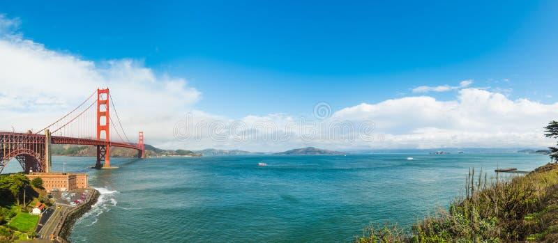 World famous Golden gate bridge in San Francisco. California stock image