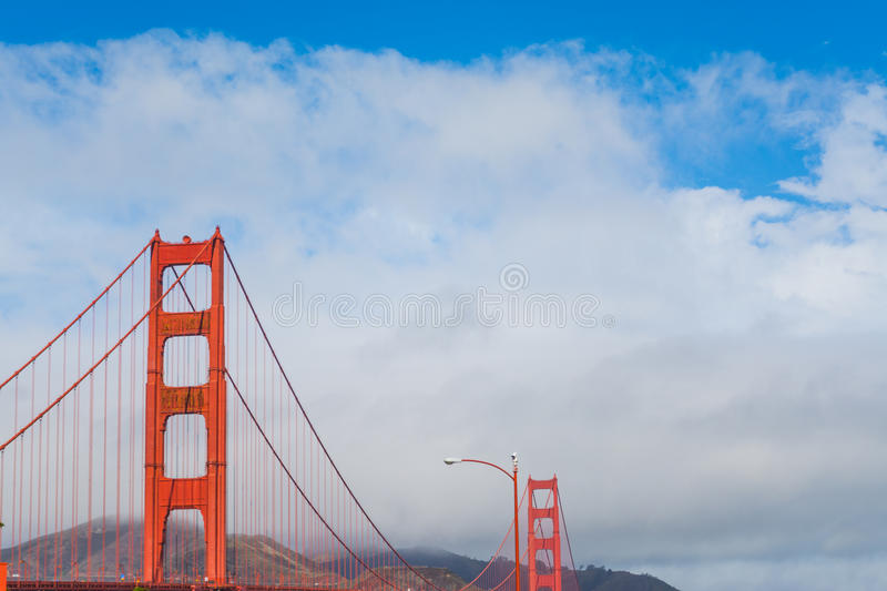 World Famous Golden Gate bridge. In San Francisco, California stock photos