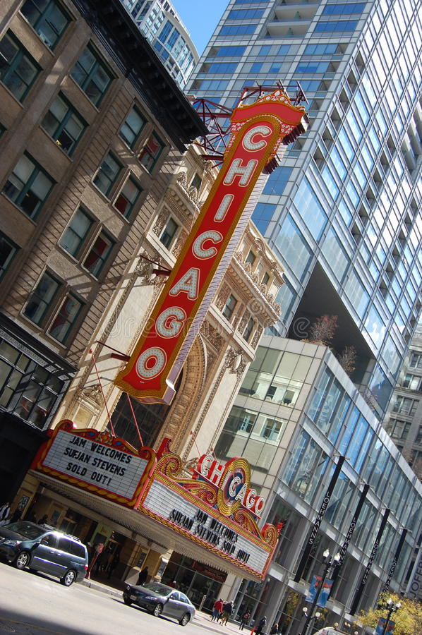 Download World Famous Landmark Chicago Theater Editorial Image - Image: 22013960