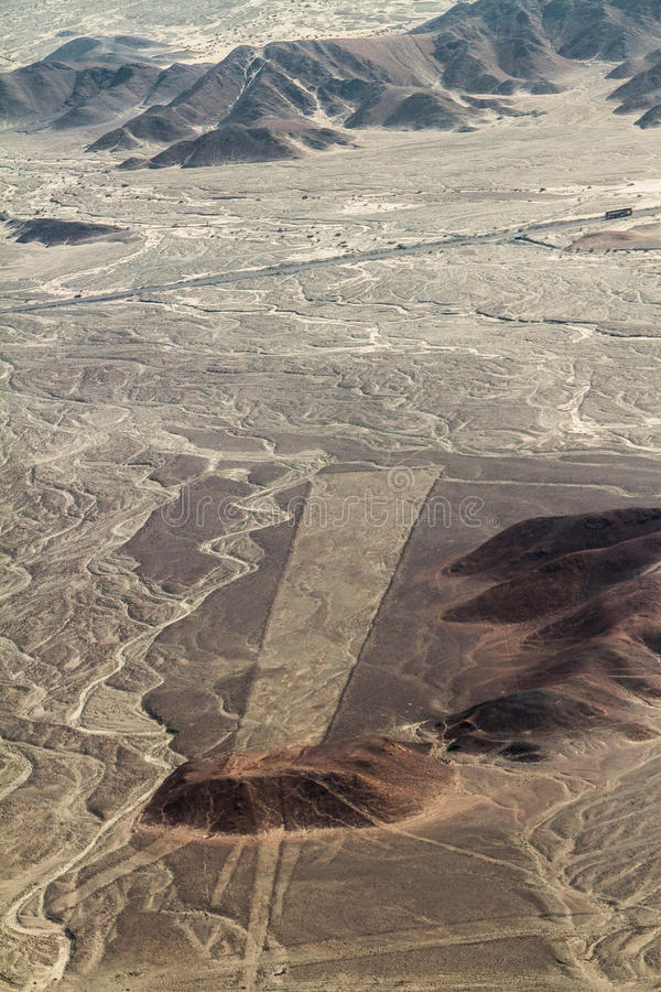 World Famous Lines And Geoglyphs Of Nazca, Peru Royalty Free Stock Photos
