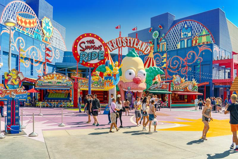 World famous park Universal Studios in Hollywood royalty free stock photos