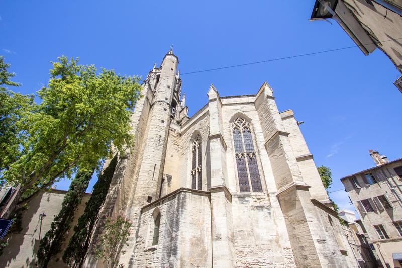 Popes Palace in Avignon, France. World famous popes palace in Avignon, France stock photography