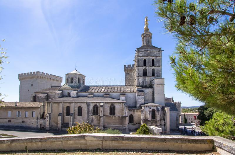 Popes Palace in Avignon, France stock image