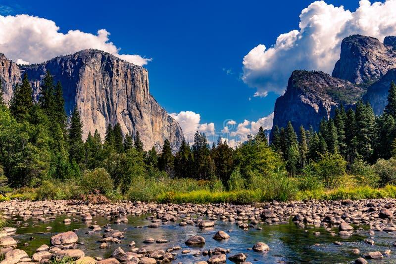 El Capitan, Yosemite national park. World famous rock climbing wall of El Capitan, Yosemite national park, California, usa royalty free stock photography