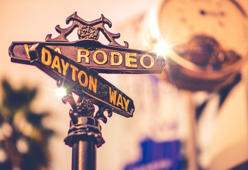 World Famous Rodeo Drive royalty free stock photo