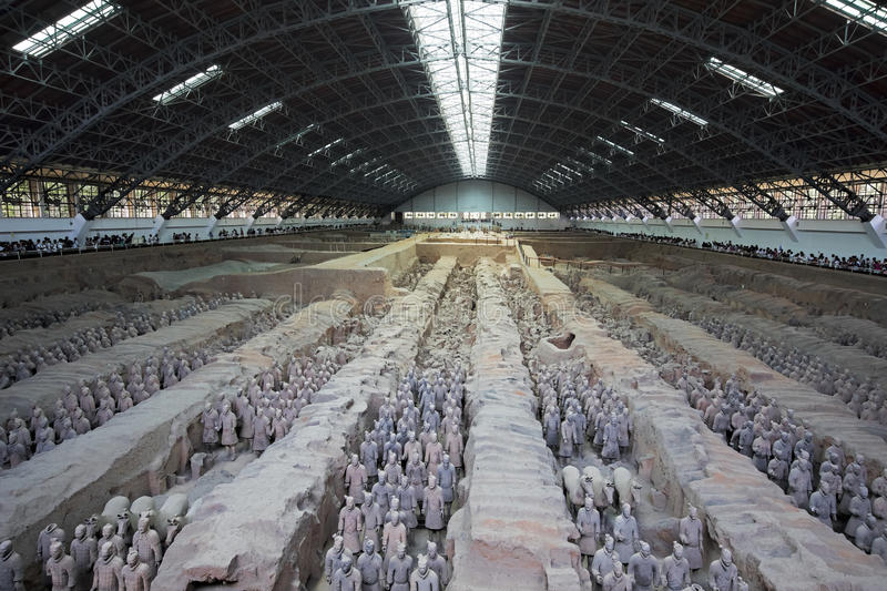 World famous Terracotta Army located in Xian China stock image