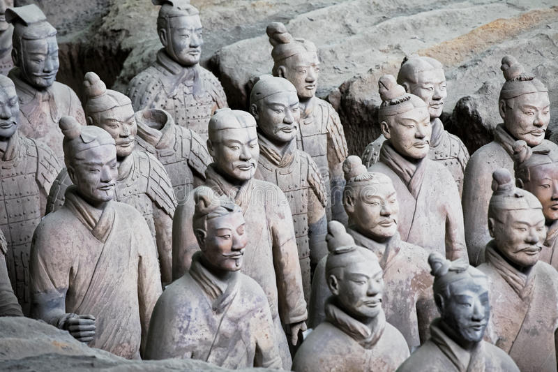 World famous Terracotta Army located in Xian China royalty free stock photos