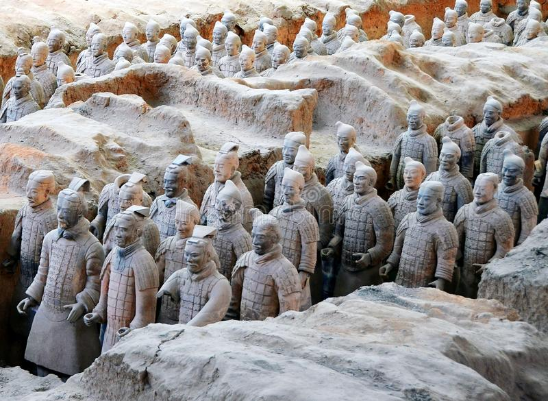 The world famous Terracotta Army,Xian,China royalty free stock photo