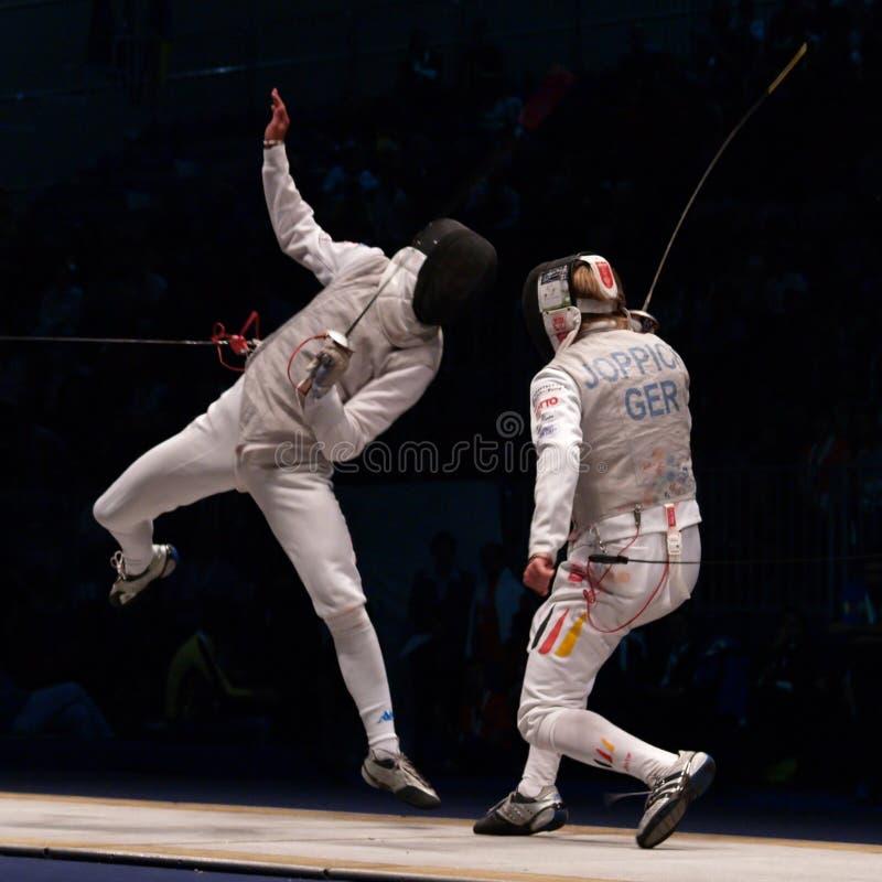 World Fencing Championship 2006; Baldini-Joppich stock images