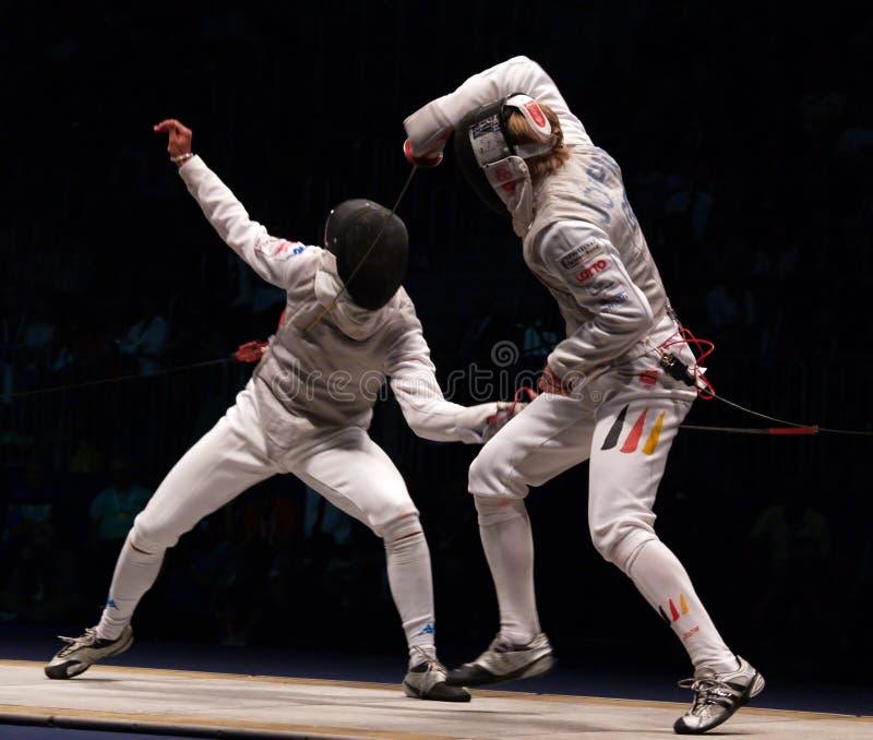 World Fencing Championship 2006, Baldini-Joppich stock images