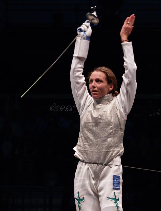 World Fencing Championship 2006 - Vezzali royalty free stock image