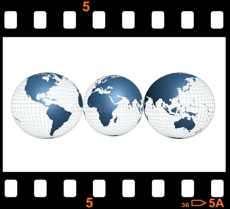 World film stock illustration
