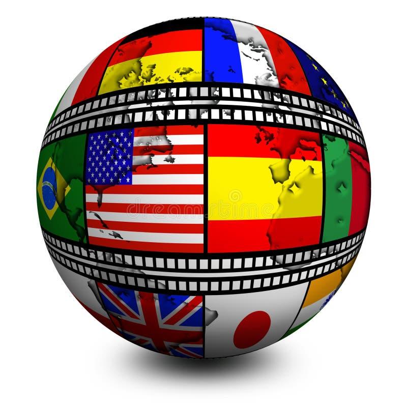 Free World Film Flags Stock Image - 8810871