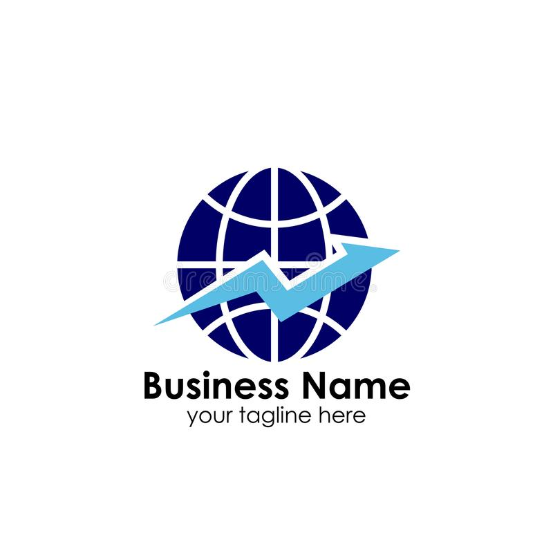 World finance business logo template. globe with arrow vector logo icon royalty free illustration