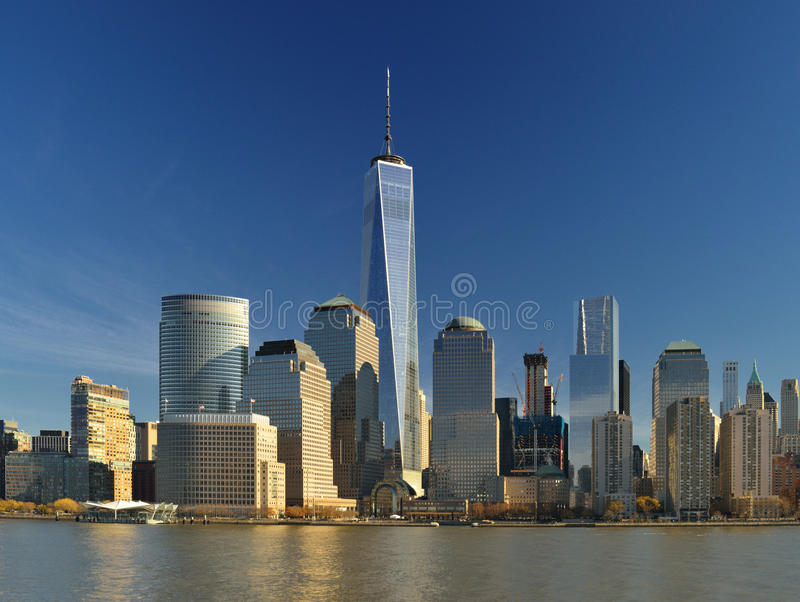 World Financial Center, New York City. View of the World Financial Center, New York City, from the Hudson River royalty free stock photos