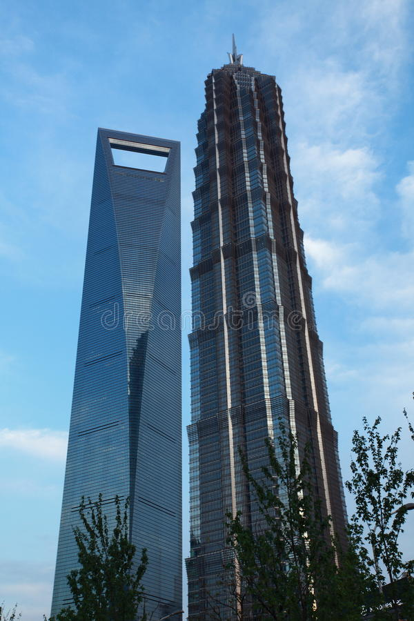 World Financial Center of Shanghai royalty free stock photography