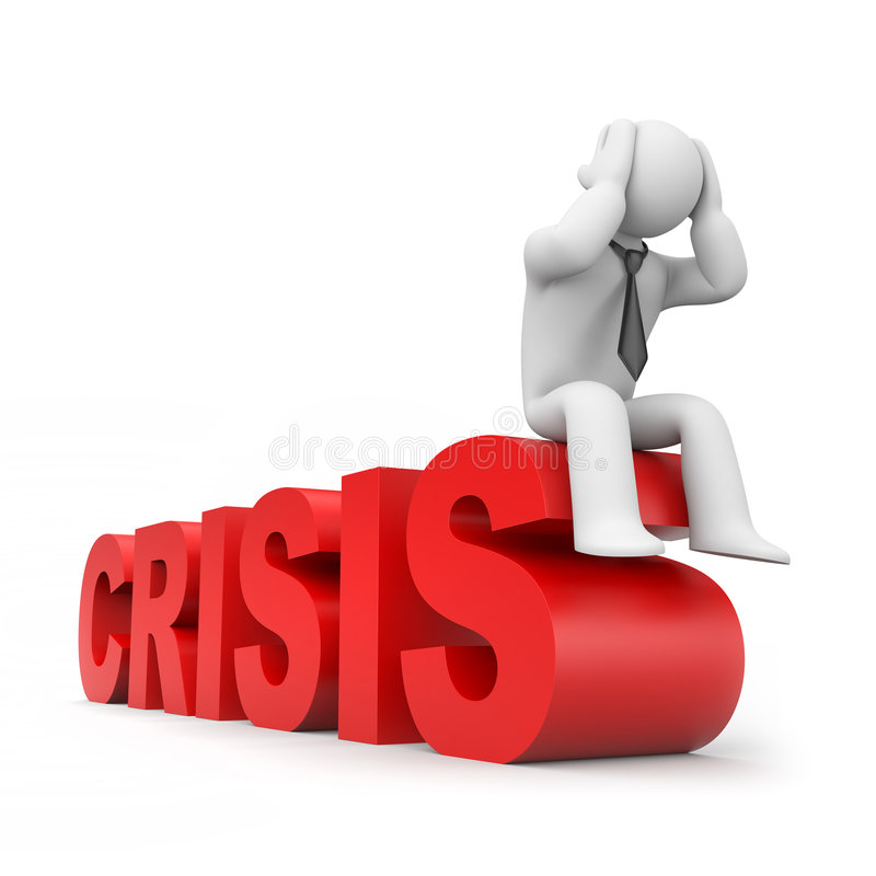 World financial crisis royalty free illustration
