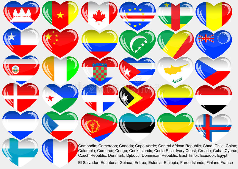 World_flag_EPS10 stock illustration