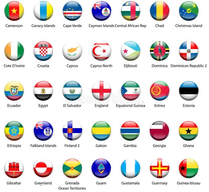 World Flag Icons 04 stock photography