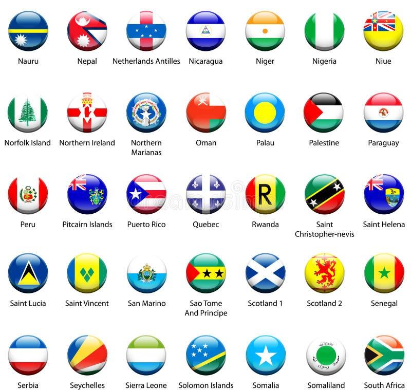 World Flag Icons 06 royalty free stock photography