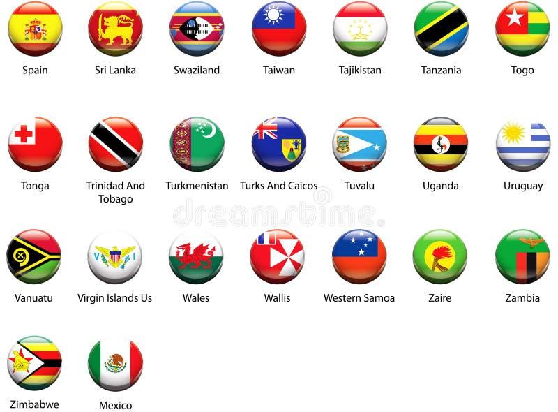 World Flag Icons 07 royalty free stock photography