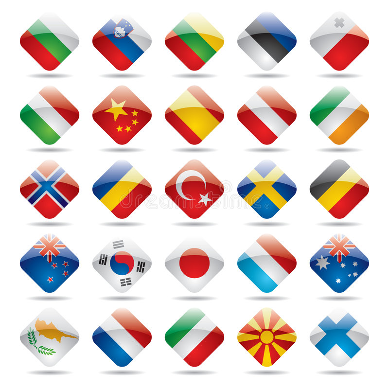 World flag icons 2 stock illustration