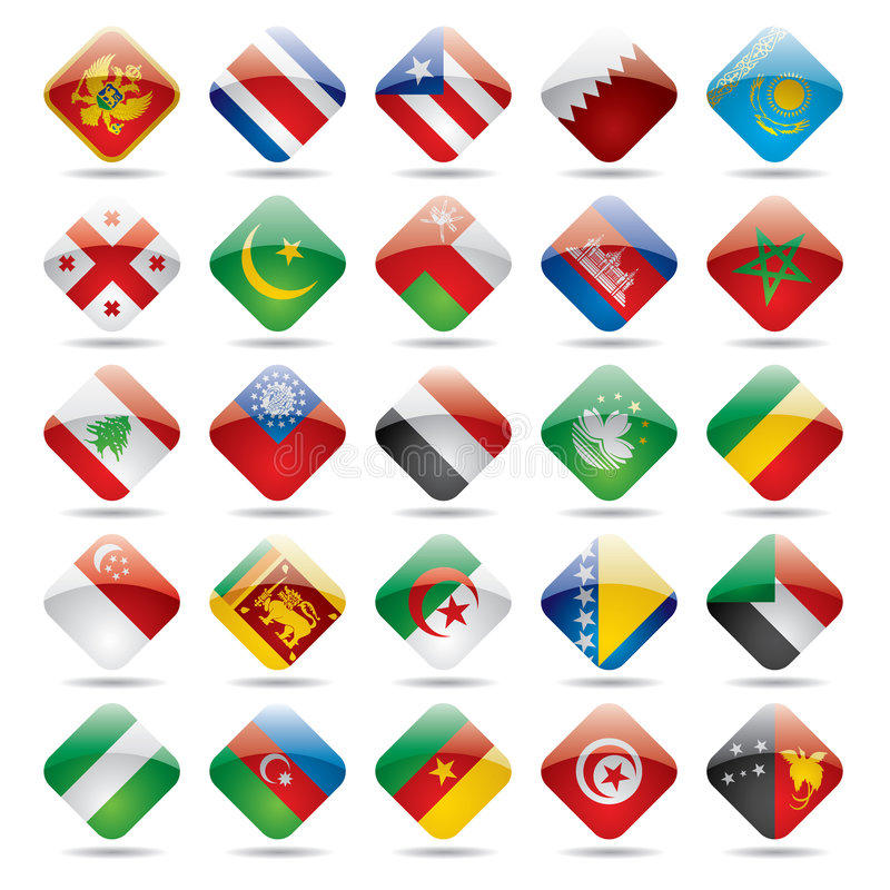 World flag icons 4 royalty free illustration