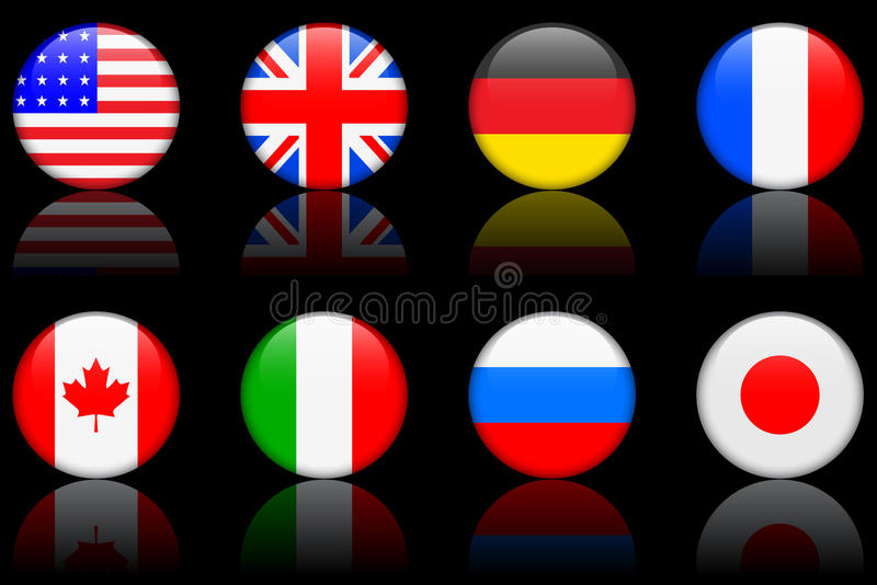 Download World Flag Series  World Flag Series G8 Countries Stock Illustration - Image: 12417728