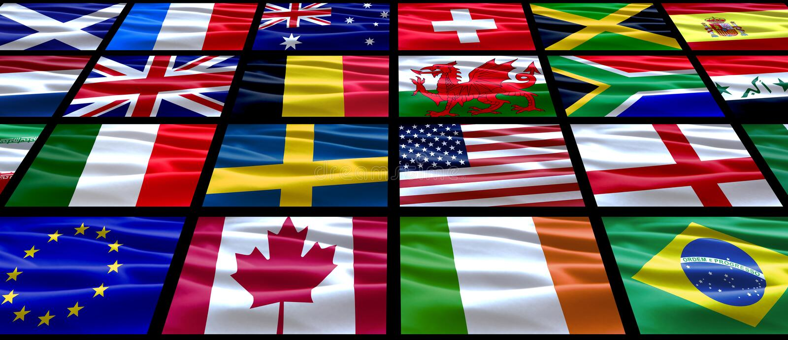 Download World Flags stock image. Image of color, quaver, country - 6715597