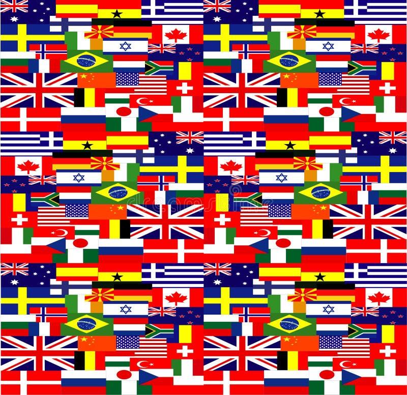 World flags background stock illustration