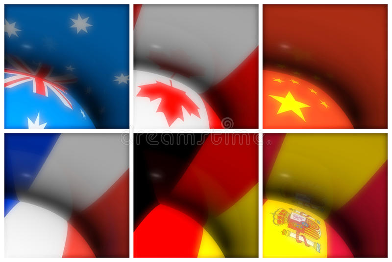 World Flags Collection royalty free stock photo