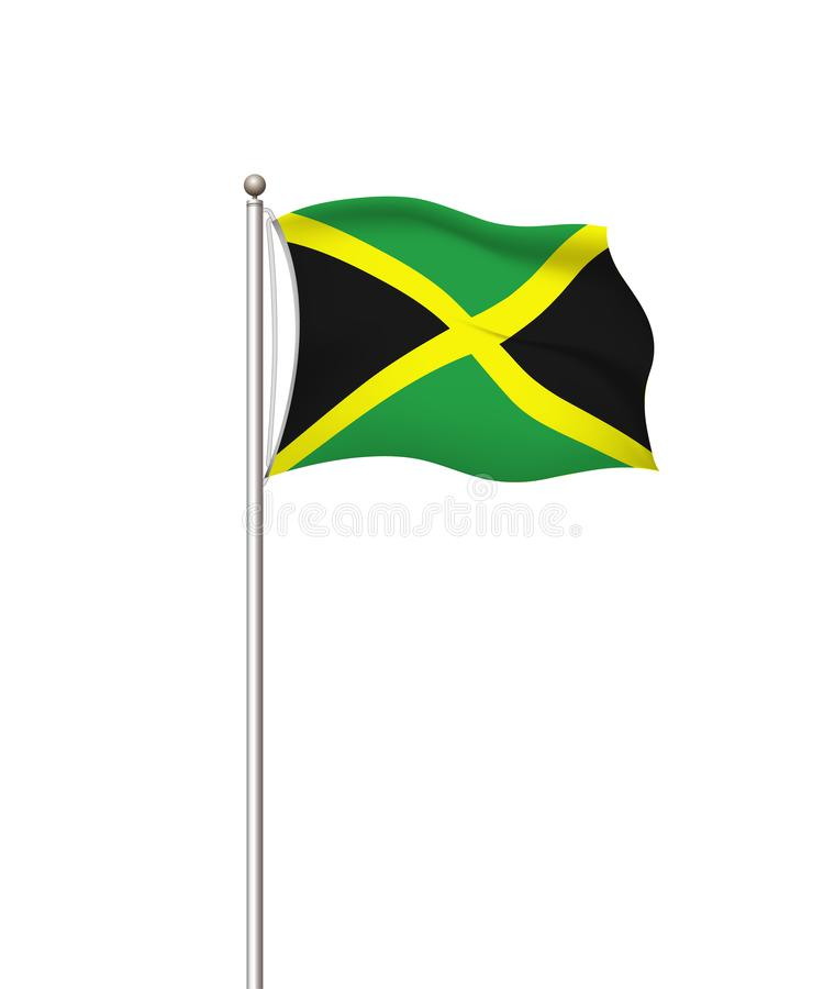 World flags. Country national flag post transparent background. Jamaica. Vector illustration. royalty free illustration