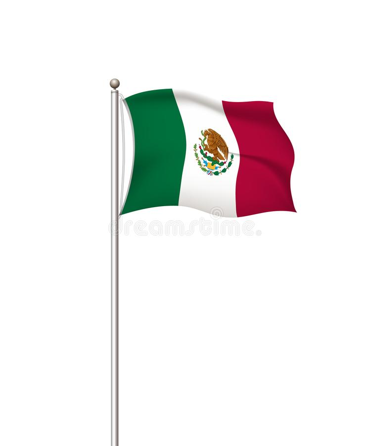 World flags. Country national flag post transparent background. Mexico. Vector illustration. vector illustration