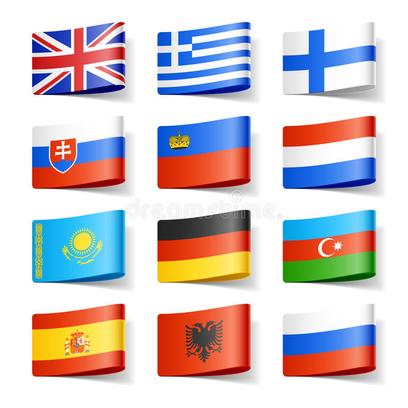 Download World flags. Europe. stock vector. Image of ribbon, britain - 23800519