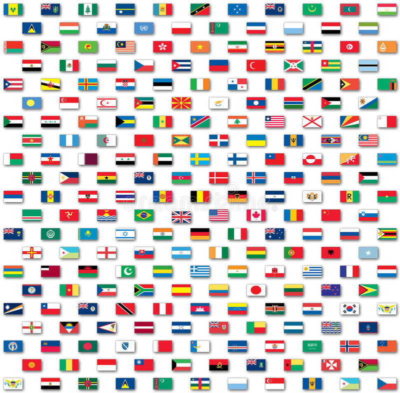 Free World Flags Isolated On White Stock Photo - 6791220