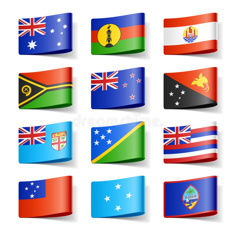 Free World Flags. Oceania. Stock Photos - 23800463