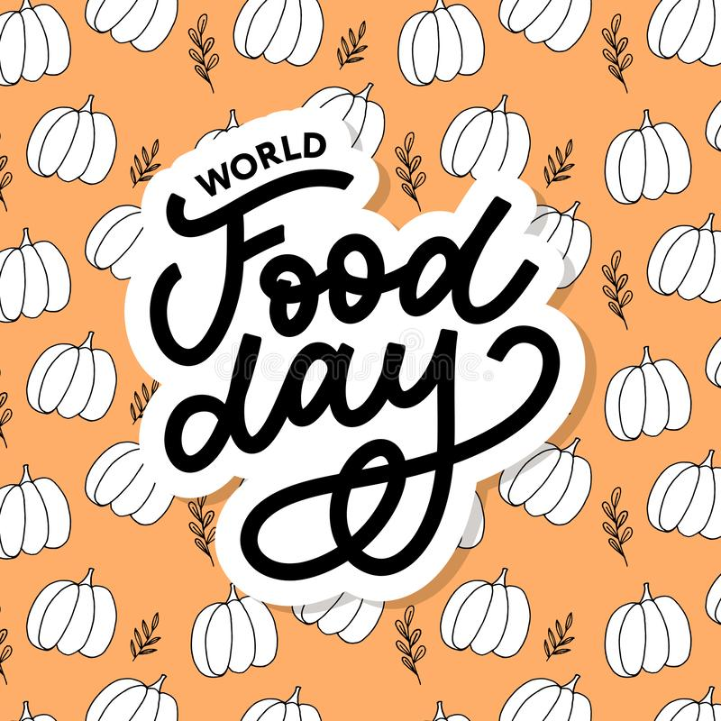 World Food Day Vector Illustration. Suitable for greeting card, poster and banner. Background, design, element, important, simple, vegetarian, advertising vector illustration