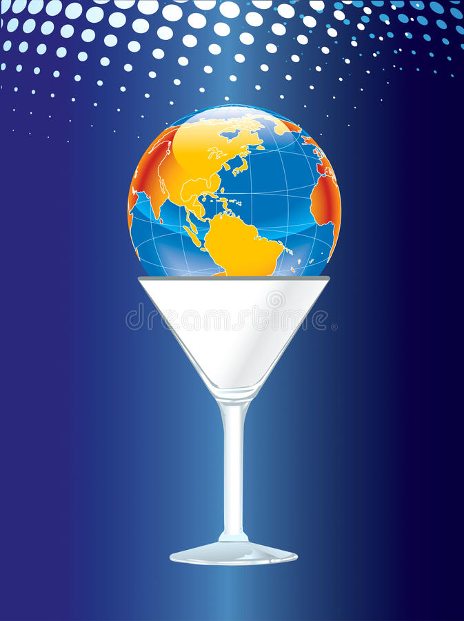 World in a glass royalty free stock image