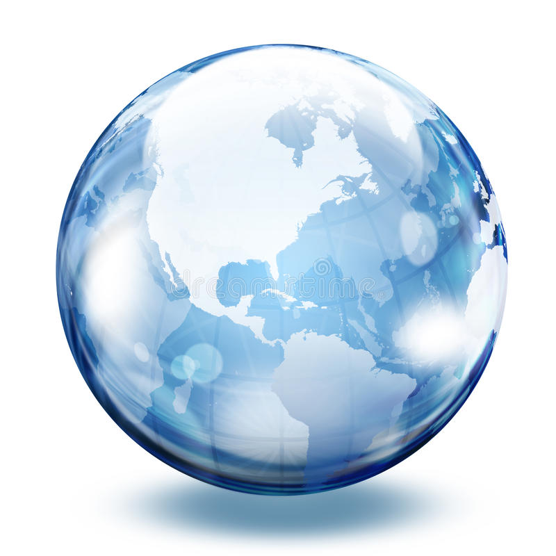 World glass sphere vector illustration