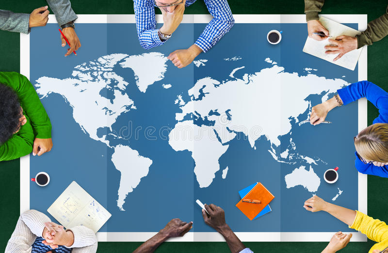 World Global Business Cartography Globalization International Co. Ncept royalty free illustration