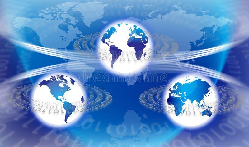 World Global Technology royalty free illustration