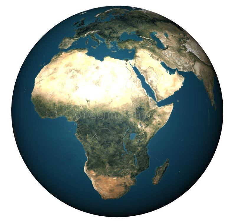WORLD GLOBE. World illustration  Africa